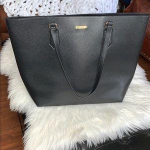 White House Black Market large black tote bag